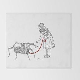 Danger Kids: Little Miss Muffet Throw Blanket