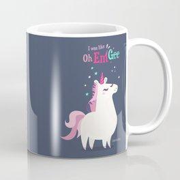 I was like Oh Em Gee - Unicorn Coffee Mug