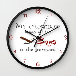 Buffy's Crossbow Wall Clock
