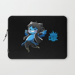 Chibi Luc (Expression 2) w/ Black Background Laptop Sleeve