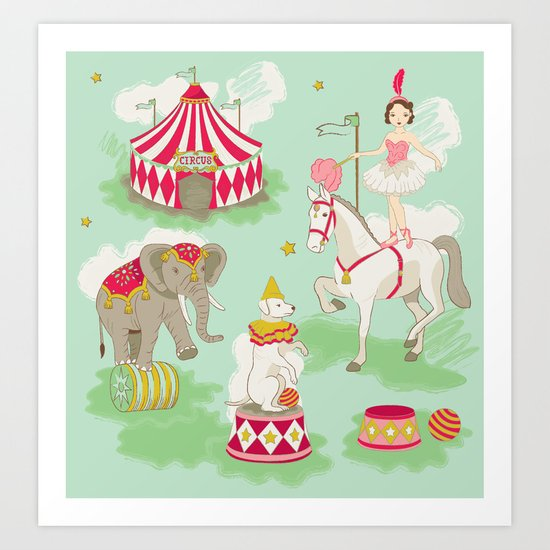 Vintage Circus Art Print