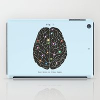 video games iPad Cases featuring Your Brain On Video Games by Terry Fan