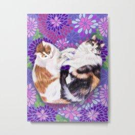 Fluffy Kitty Fur-Friends Metal Print