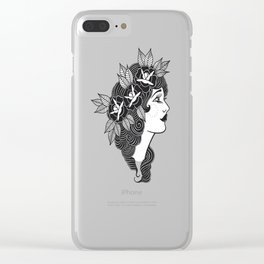Pinup Profile Clear iPhone Case