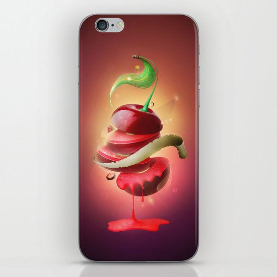 Sliced Sour Cherry iPhone & iPod Skin