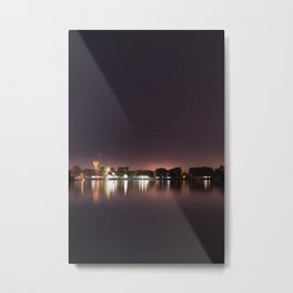 The Lake at Night Metal Print