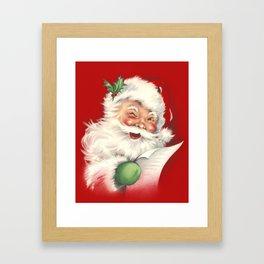 Vintage Santa Framed Art Print