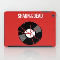 shaun of the dead iPad Cases featuring Shaun of the Dead - Record by Nick Kemp