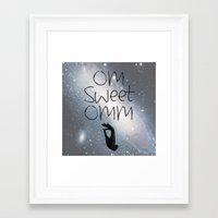 om Framed Art Prints featuring OM by Surya
