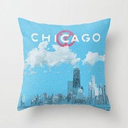 Chicago - Light blue Throw Pillow