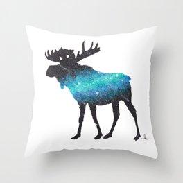 space moose Throw Pillow