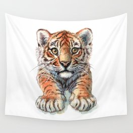 Playful Tiger Cub 907 Wall Tapestry