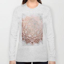 ROSE GOLD MANDALA Long Sleeve T-shirt