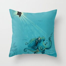 Kite Manta Throw Pillow