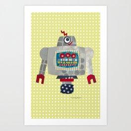 pete 50s retro robot Art Print