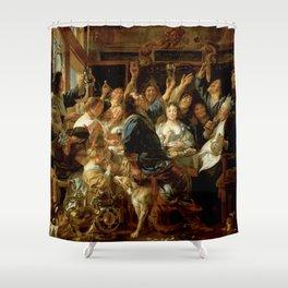 "Jacob Jordaens ""The Feast of the Bean King"" Shower Curtain"