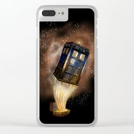 Fantastic Tardis Doctor Who Mashup with Fantastic Bag Clear iPhone Case