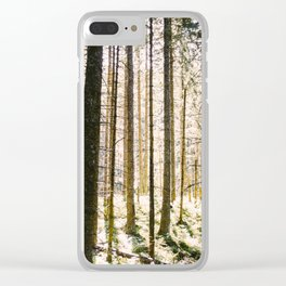 Sunlight Through Trees In Forest Woods Clear iPhone Case