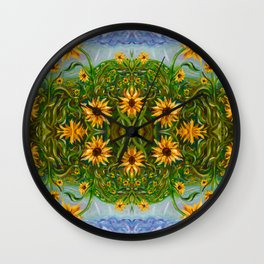 Sunflower Dancing in the Moonlight Wall Clock