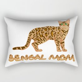 Bengal Mom Rectangular Pillow