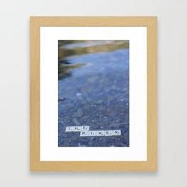 The river Part 2 Framed Art Print