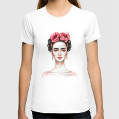 Frieda White Womens Fitted Tee SMALL