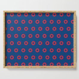 Fishman Donuts Red and Blue Serving Tray