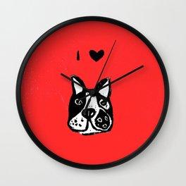 I heart Dogs Wall Clock