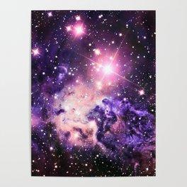 Fox Fur Nebula : Pink Purple Galaxy Poster