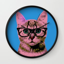 Warhol Cat 1 Wall Clock