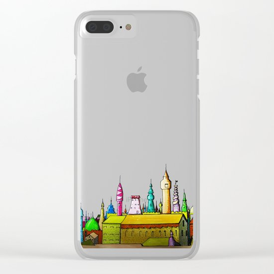 fabulous city painted Clear iPhone Case