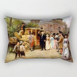 George Washington Arriving At Christ Church Rectangular Pillow