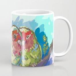 Expressive Parrots Lovebirds Coffee Mug