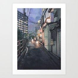 Tokyo at Night #10 Art Print