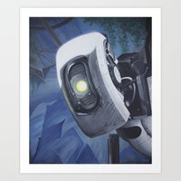 glados Art Prints featuring GLaDOS by Mage Lanz