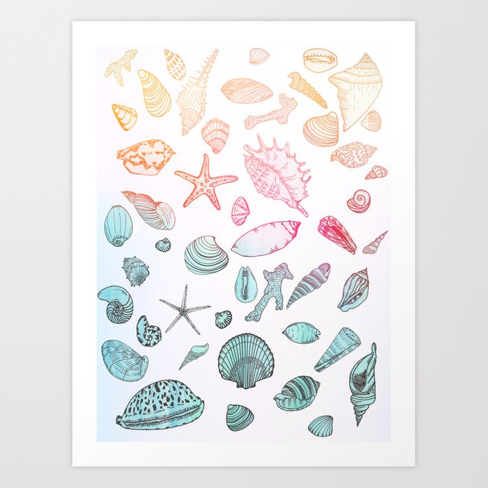 Mollusk madness Art Print