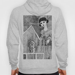 Girl on the top of her house. Hoody
