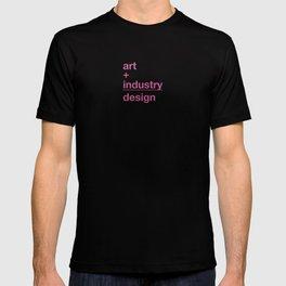 art + industry = design T-shirt