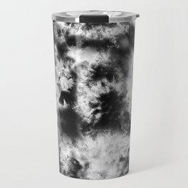 Black and White Tie Dye & Batik Travel Mug