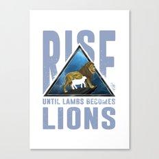 Rise Lions  Canvas Print