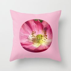 pink bloom focus IX Throw Pillow