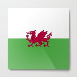 Wales flag emblem Metal Print