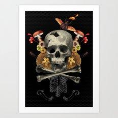 Hard Skull Art Print