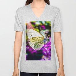 Cabbage Butterfly Unisex V-Neck