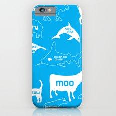 Animal Noises in Blue Slim Case iPhone 6s