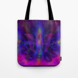 Born of Lotus Abstract Art Tote Bag