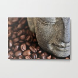 Coffee Buddha 4 Metal Print