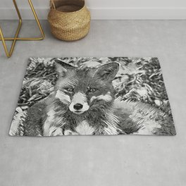 AnimalArtBW_Fox_20170901_by_JAMColorsSpecial Rug