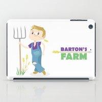 clint barton iPad Cases featuring Clint Barton the Farmer by Alice Wieckowska