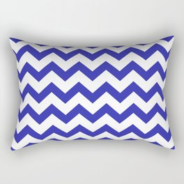 Chevron (Navy & White Pattern) Rectangular Pillow